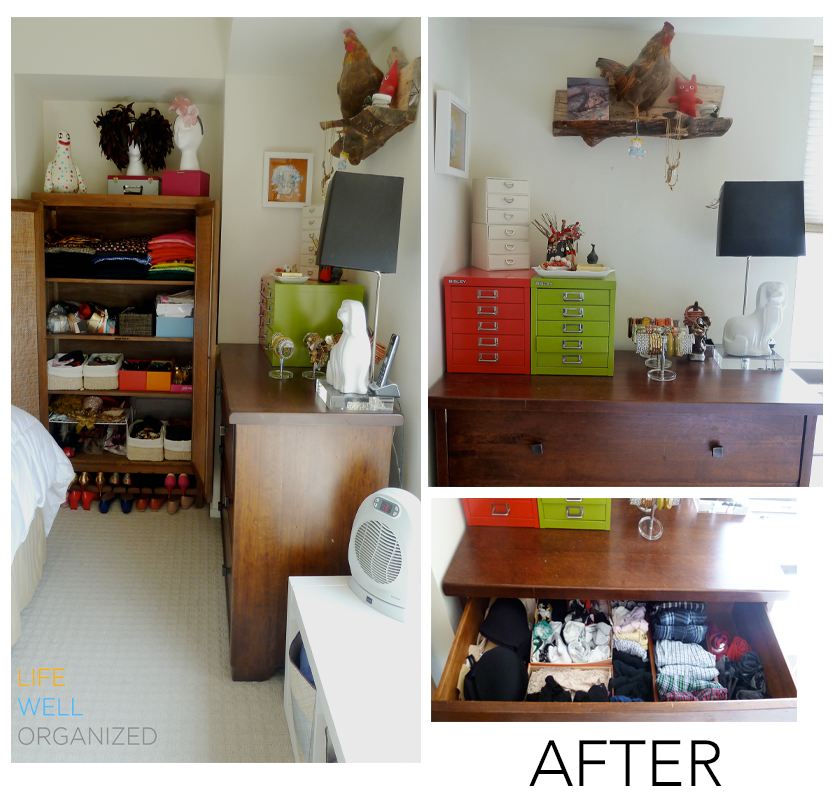 Life Well Organized: Armoire & Dresser After