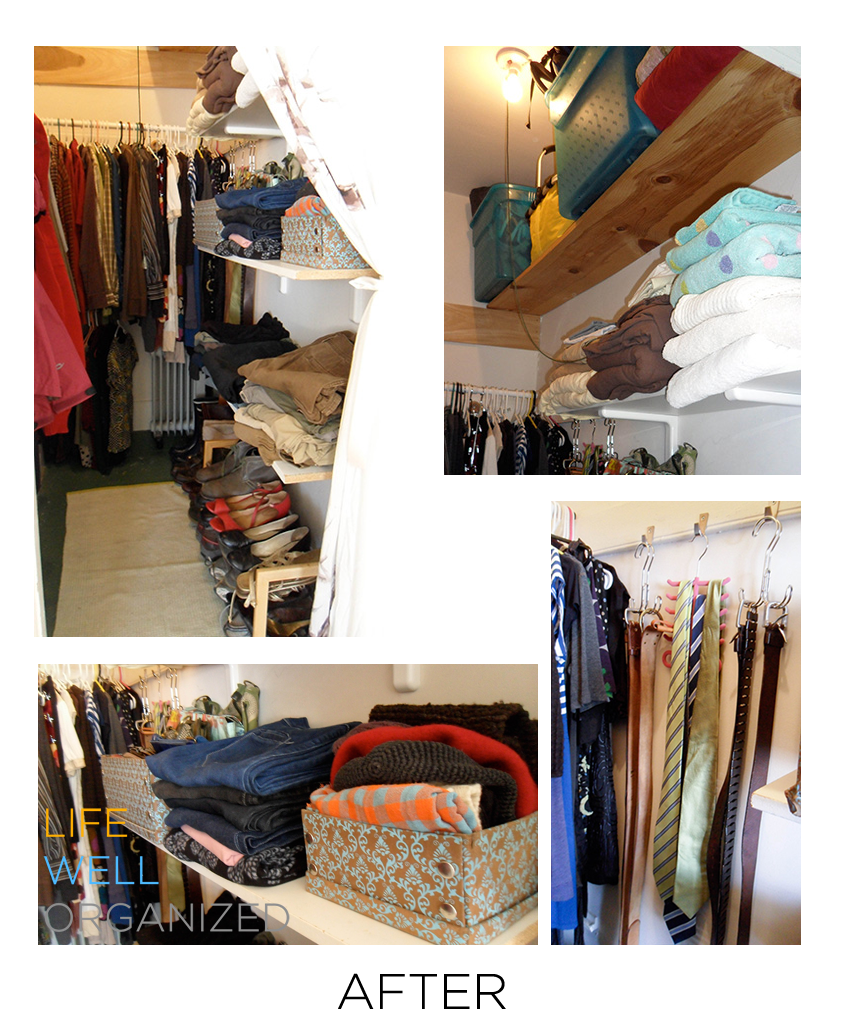 Life Well Organized: Small Closet After