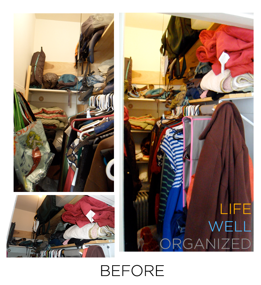 Life Well Organized: Small Closet